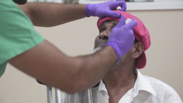 army and air force opthalmologists perform cataract surgery on local patients in guyana in support of new horizons 2019. - lens eye stock videos & royalty-free footage