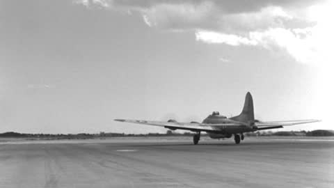 a b-17 army bomber with a lifeboat attached under the fuselage takes off from a california airfield in 1940. - 1946 stock videos & royalty-free footage