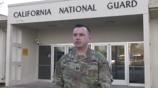 army captain michael marsh, commander of headquarters company, 115th regional support group, california army national guard, explains his unit's... - sergeant stock videos & royalty-free footage