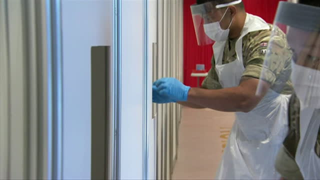army carrying out coronavirus mass testing in liverpool - medical equipment stock videos & royalty-free footage
