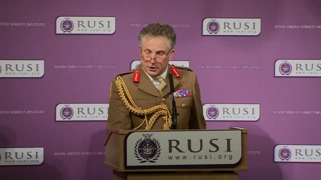army chief sir nick carter issues warning over defence budget and russian threat; england: london: whitehall: rusi : int general sir nick carter... - künstlich stock-videos und b-roll-filmmaterial