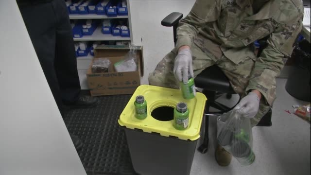 us army customs agency continues with its efforts to keep mail safe at wiesbaden germany - wiesbaden stock-videos und b-roll-filmmaterial