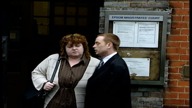 deepcut barracks allegations reviewed yvonne collinson and jim collinson stood outside magistrates court clean feed tape = d0607154 or d0607155... - barracks stock videos and b-roll footage
