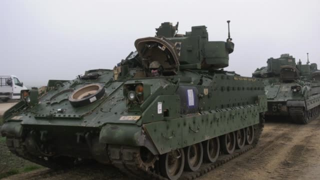 US Army equipment arrives at Mihail Kogalniceanu Romania for 1st Battalion 18th Regiment 2nd Armored Brigade Combat Team 1st Infantry Division on Nov...