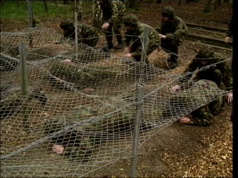 Army faces recruitment shortfall ITN Soldiers along on assault course during training
