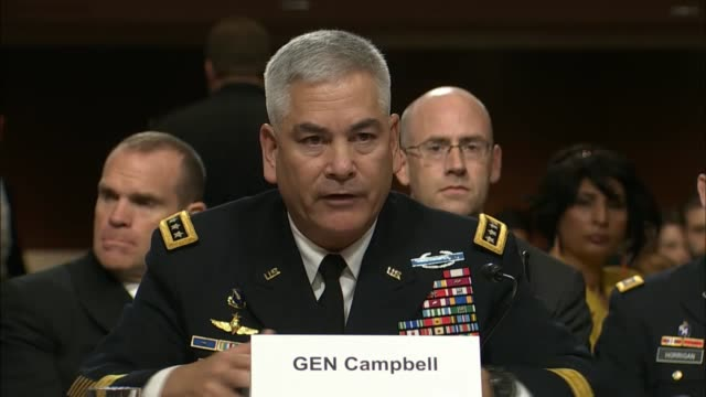army general john campbell addresses mistaken airstrike carried out the previous weekend which killed doctors and patients at a hospital of doctors... - john f. campbell general stock videos & royalty-free footage