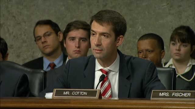 army general john campbell admits to arkansas senator tom cotton that efforts to bolster aerial capabilities of the afghan military got a late start... - nackenrolle kopfkissen stock-videos und b-roll-filmmaterial