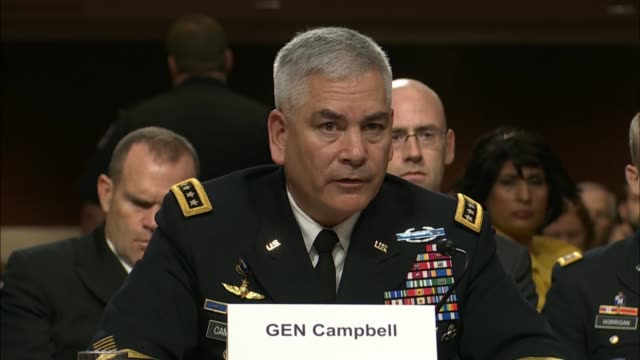 army general john campbell to describe his process for assessing the needs including close air support of the afghan military - john f. campbell general stock videos & royalty-free footage