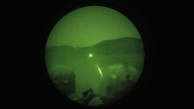 us army infantrymen assigned to the 10th mountain division conduct team livefire training at arta range in djibouti on june 23rd 2018 - night vision stock videos and b-roll footage