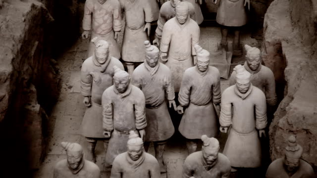 army of terracotta warriors, xi'an china - heer stock-videos und b-roll-filmmaterial