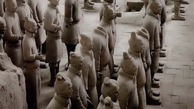army of terracotta warriors, xi'an china - army stock videos & royalty-free footage