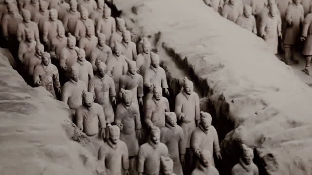 armee der terrakotta-krieger, xi'an,, china - heer stock-videos und b-roll-filmmaterial