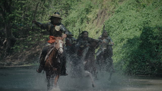 army on horseback - warrior person stock videos & royalty-free footage