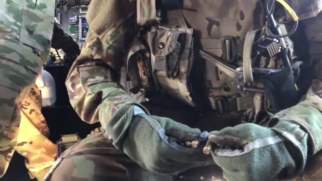 us army paratroopers assigned to bravo company 3rd general support aviation battalion 82nd aviation regiment 82nd airborne division combat aviation... - gun belt stock videos and b-roll footage