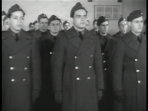 army recruits in coats standing at attention cu young adult male in uniform ms recruits at attention in uniform ws car approaching guarded security... - military recruit stock videos and b-roll footage