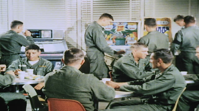 army recruits playing pinball in recreation area / fort leonard wood missouri united states - pinball machine stock videos & royalty-free footage