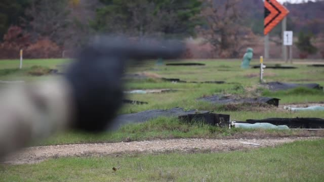 us army reserve military police military police soldiers at various gunnery ranges at fort mccoy wisconsin on oct 2427 2017 the range was organized... - carbine stock videos and b-roll footage