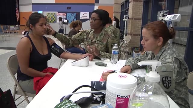 us army reserve soldiers from orlando florida provide medical dental optical and consulting services with army doctors and medical personnel free of... - harwell stock videos & royalty-free footage