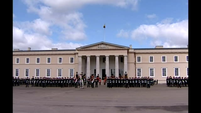 army reviews prince harry's possible deployment to iraq r12040610 surrey camberley sandhurst royal military academy ext prince harry and fellow... - passing out parade stock videos & royalty-free footage