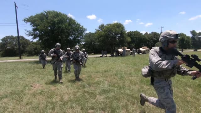 us army security forces squadron conduct uh60 black hawk helicopter training in texas 14 june 2019 - black hawk helicopter stock videos and b-roll footage