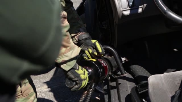US Army Soldiers and the New York City Fire Department work together in a joint training exercise simulating Chemical Biological Radiological and...