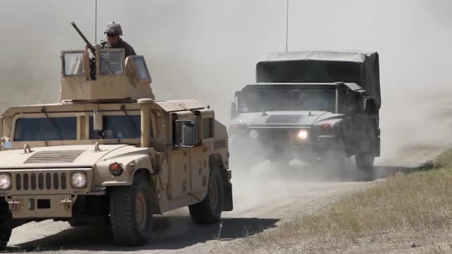 stockvideo's en b-roll-footage met us army soldiers conduct a motorized live fire exercise at orpholo firing range georgia during exercise agile spirit 9 august 2019 - humvee