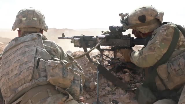 army soldiers conduct live-fire training near tan tan, morocco as part of exercise african lion 2019, 31 march 2019. - machine gun stock videos & royalty-free footage