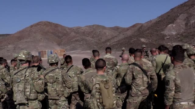 us army soldiers from battle company 132 infantry 1st brigade combat team 10th mountain division assigned to combined joint task forcehorn of... - horn of africa stock videos & royalty-free footage