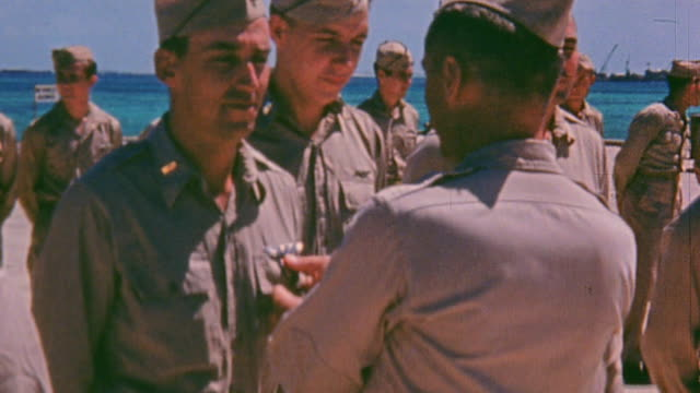 army soldiers including a sergeant being decorated with the silver star - sergeant stock videos & royalty-free footage
