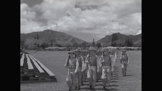 ws pan army soldiers marching on ground, military vehicle moving in background / united states - provincial reconstruction team stock videos & royalty-free footage