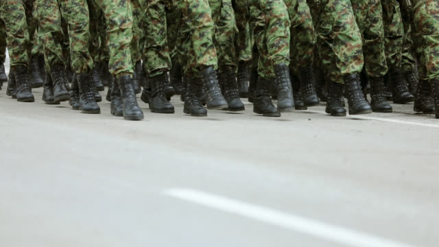 army soldiers marching on military parade - shoes in a row stock videos & royalty-free footage
