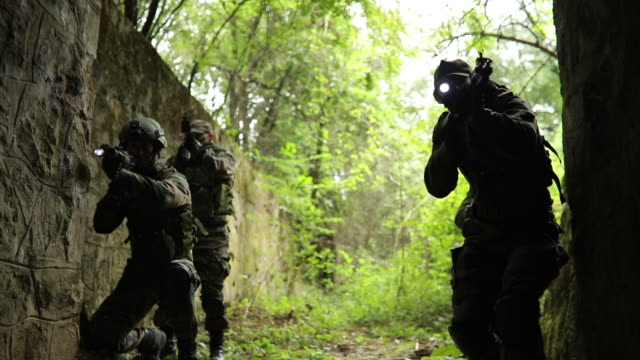 army soldiers on a mission - mercenary human role stock videos & royalty-free footage