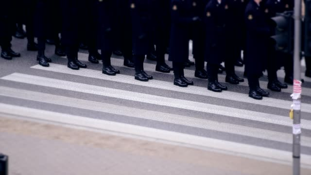 Army soldiers on Independence March Parade. Polish National Holiday