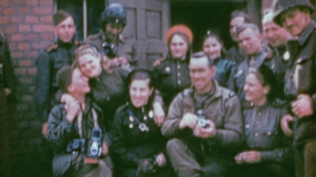 army soldiers posing with soviet army soldiers / germany - soviet military stock videos & royalty-free footage