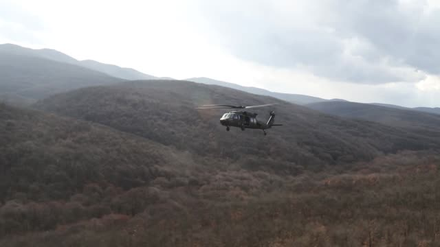 us army soldiers with 3rd assault helicopter battalion 1st aviation regiment 1st combat aviation brigade 1st infantry division conduct gunnery... - black hawk helicopter stock videos and b-roll footage
