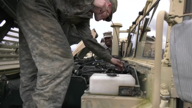 us army soldiers with the 63rd expeditionary signal battalion stationed at fort stewart georgia pilot an electronic application to help improve... - fort stewart stock videos and b-roll footage