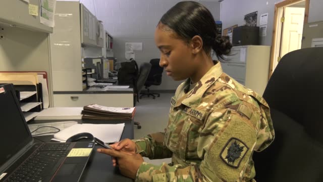 army soldiers with the 63rd expeditionary signal battalion stationed at fort stewart, georgia pilot an electronic application to help improve... - army stock videos & royalty-free footage