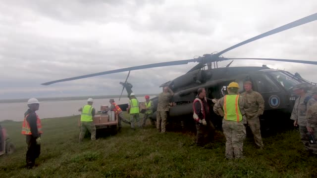 a us army uh60 black hawk helicopter delivers supplies to military personnel based at mektarvik alaska - black hawk helicopter stock videos and b-roll footage