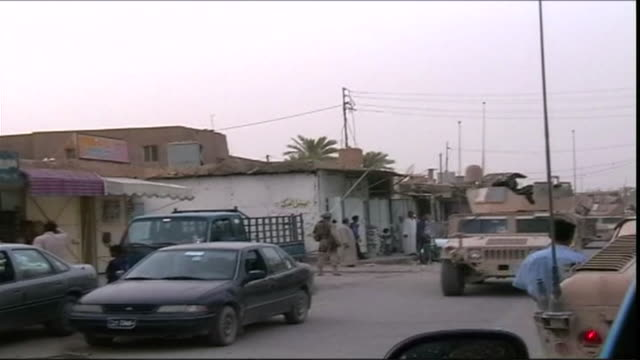 MS Army vehicles entering town, Haditha, Al Anbar, Iraq