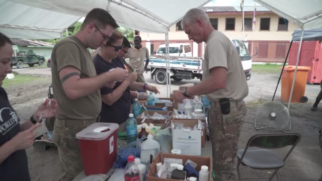 US Army vets were joined by volunteers from World Vets to help local pet owners and farmers take care of their animals in Linden Guyana during...