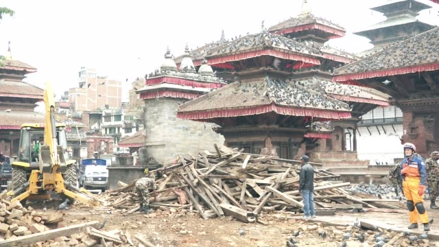 Army work destroyed Durbar Square in Kathmandu / A major earthquake hit Kathmandu midday on Saturday April 25th and was followed by multiple...