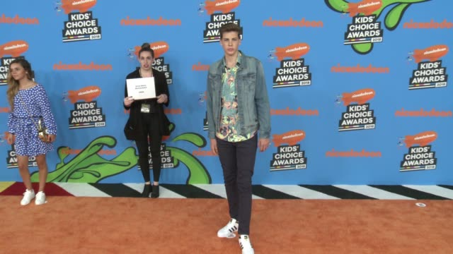arnau marin at the nickelodeon's 2018 kids' choice awards at the forum on march 24 2018 in inglewood california - 31st annual nickelodeon kids' choice awards stock videos and b-roll footage