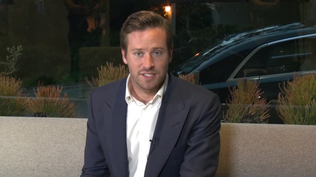 interview arnie hammer on his collaboration with the hennessy xo brand at the hennessy xo and paul mcclean celebrate collaboration hosted by armie... - armie hammer stock videos & royalty-free footage