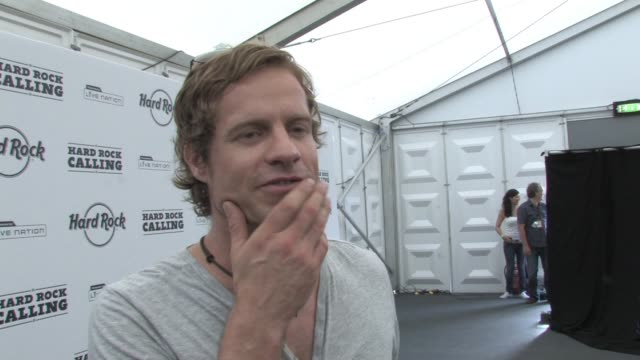 arno carstens on being on stage as a solo artist performing with celine dion and on how he's getting better as a performer at the hard rock calling... - céline dion stock videos & royalty-free footage