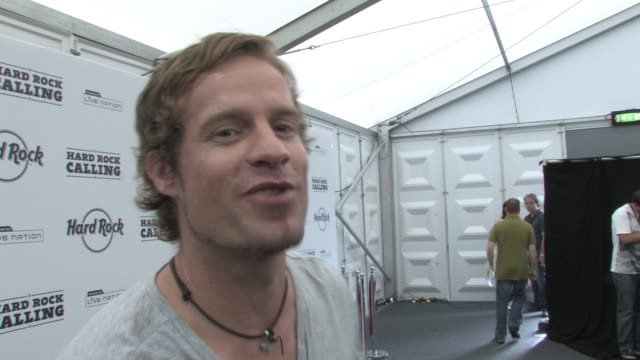 arno carstens on how johnny cash made older artists cool to be able to be older and still deliver good material is inspiring at the hard rock calling... - johnny cash stock videos & royalty-free footage