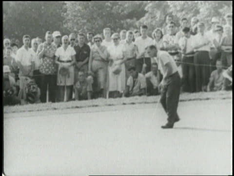 arnold palmer wins the 1954 us amateur championship. - amateur stock videos & royalty-free footage