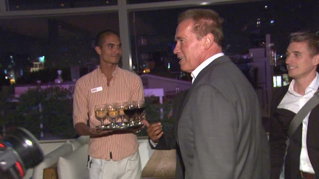 arnold schwarzenegger at arnold schwarzenegger celebrates the launch of his autobiography, total recall with a party at s mixology101 on 10/5/12 in... - autobiography stock videos & royalty-free footage