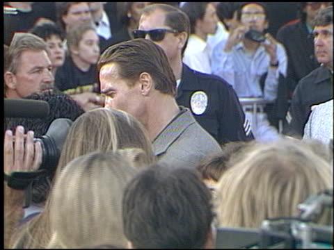 Arnold Schwarzenegger at the 'Last Action Hero' Premiere on June 13 1993
