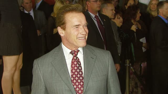 arnold schwarzenegger at the mgm's 'rocky balboa' world premiere at grauman's chinese theatre in hollywood, california on december 13, 2006. - arnold schwarzenegger stock-videos und b-roll-filmmaterial