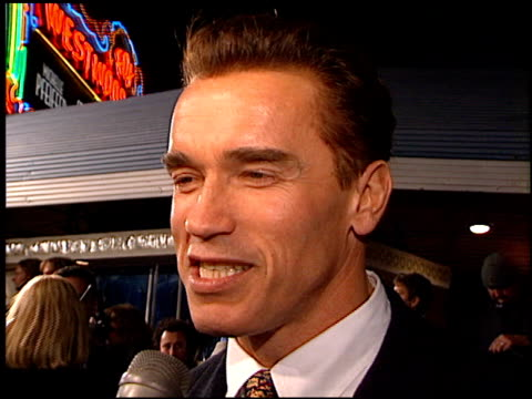 arnold schwarzenegger at the 'one fine day' premiere on december 7, 1996. - 1996 stock videos & royalty-free footage